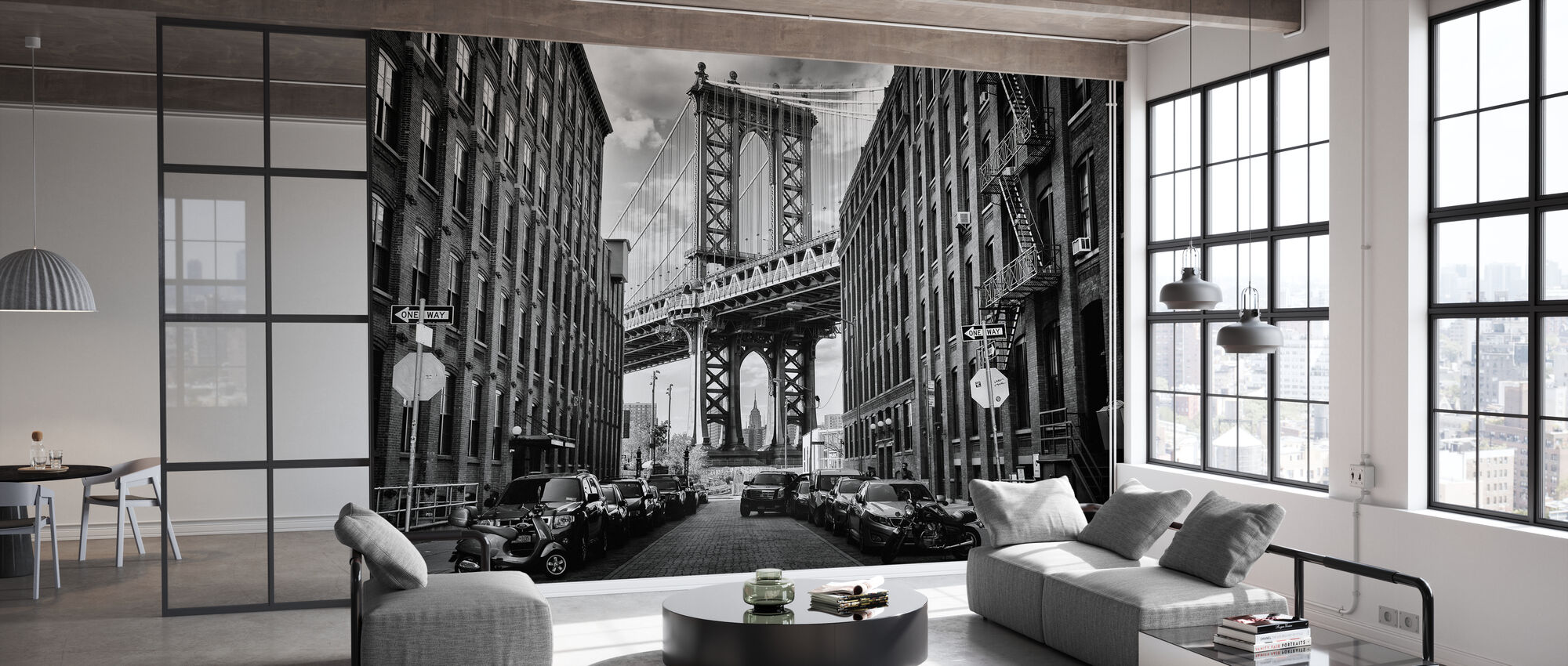 In America, black and white - Wallpaper - Office