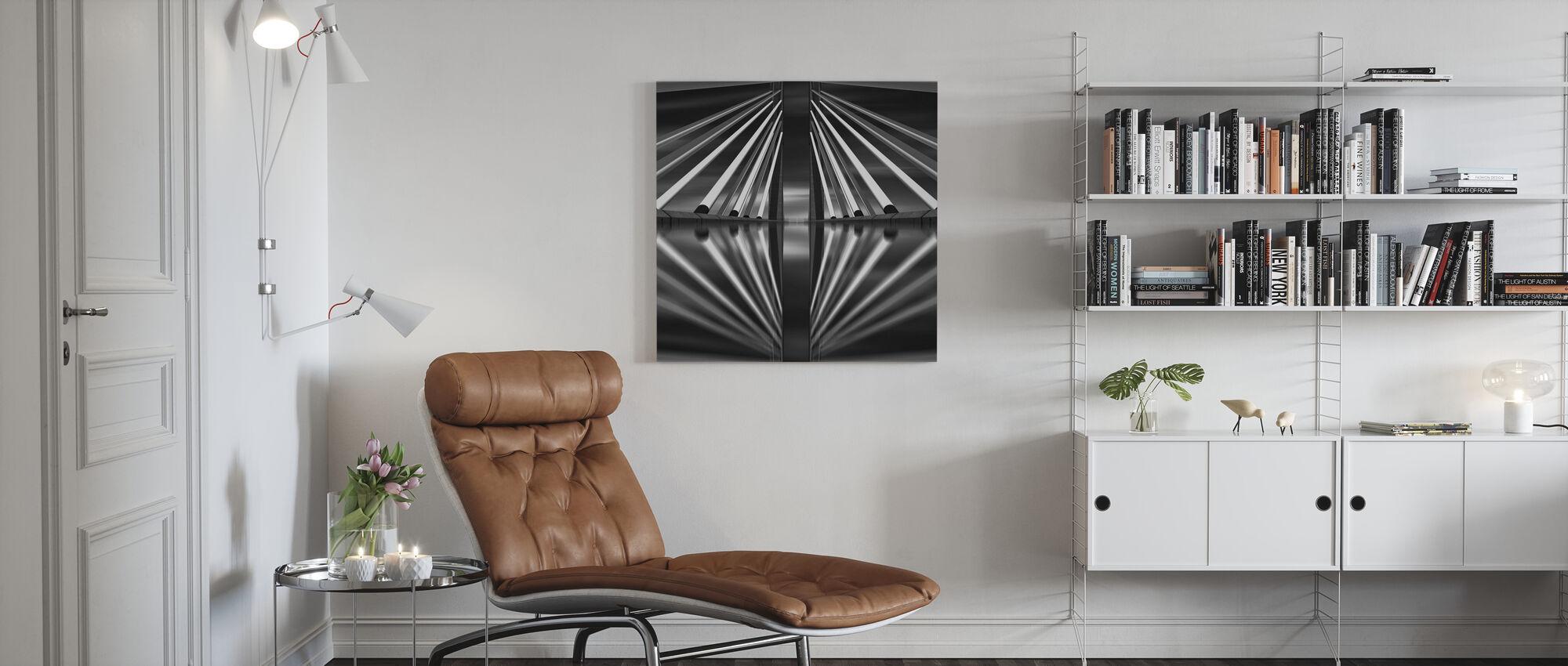 Pasupati Bridge, back and white - Canvas print - Living Room