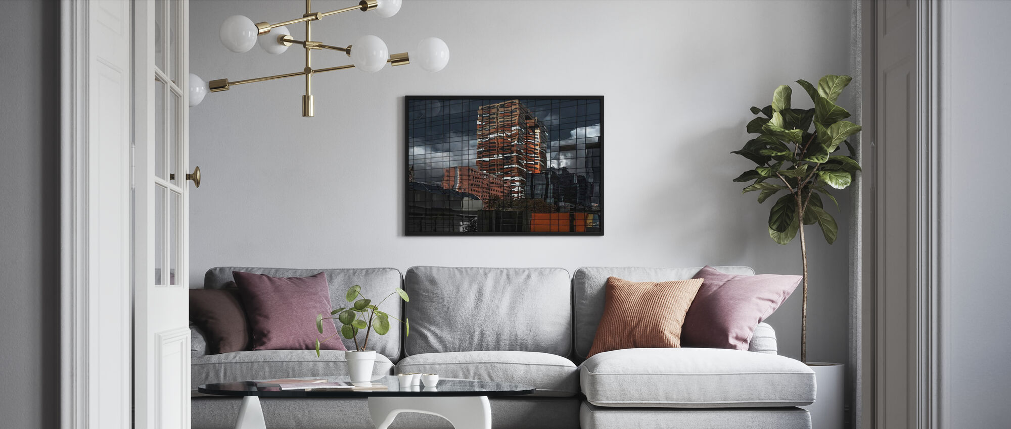 Pussel Reflektion - Poster - Vardagsrum