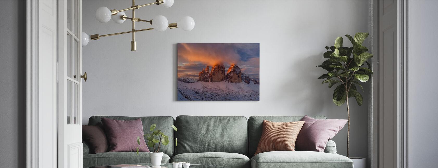 Die Geschichte des einen Sonnenaufgangs - Leinwandbild - Wohnzimmer
