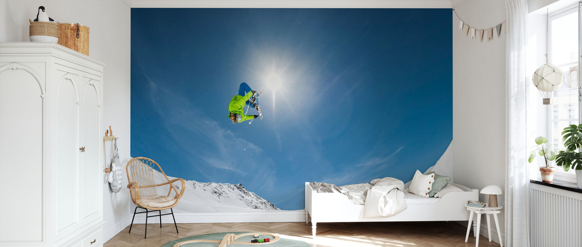 Backflip Crossed Skis - Wallpaper - Kids Room