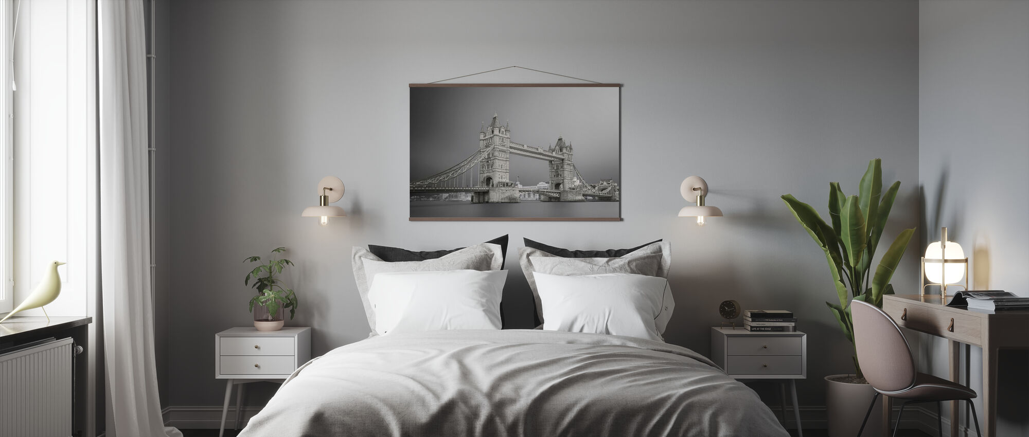 Grey Tower Bridge - Poster - Bedroom