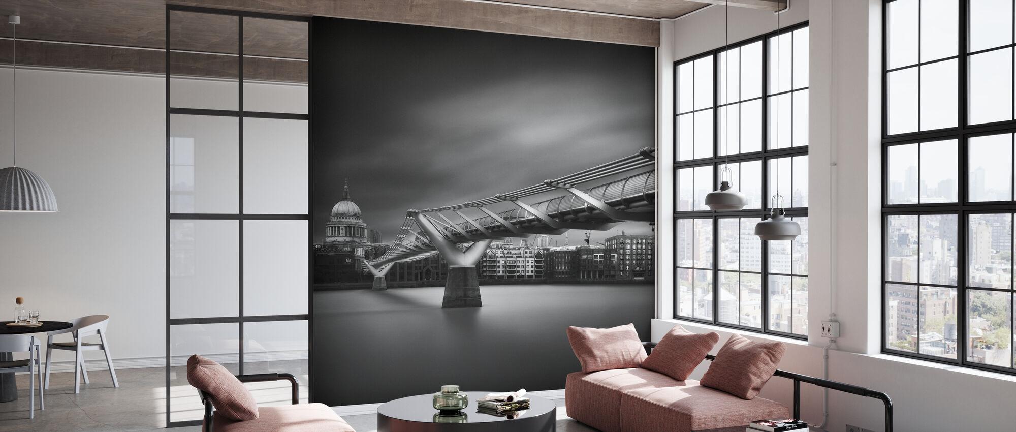Millennium Bridge, svart og hvitt - Tapet - Kontor