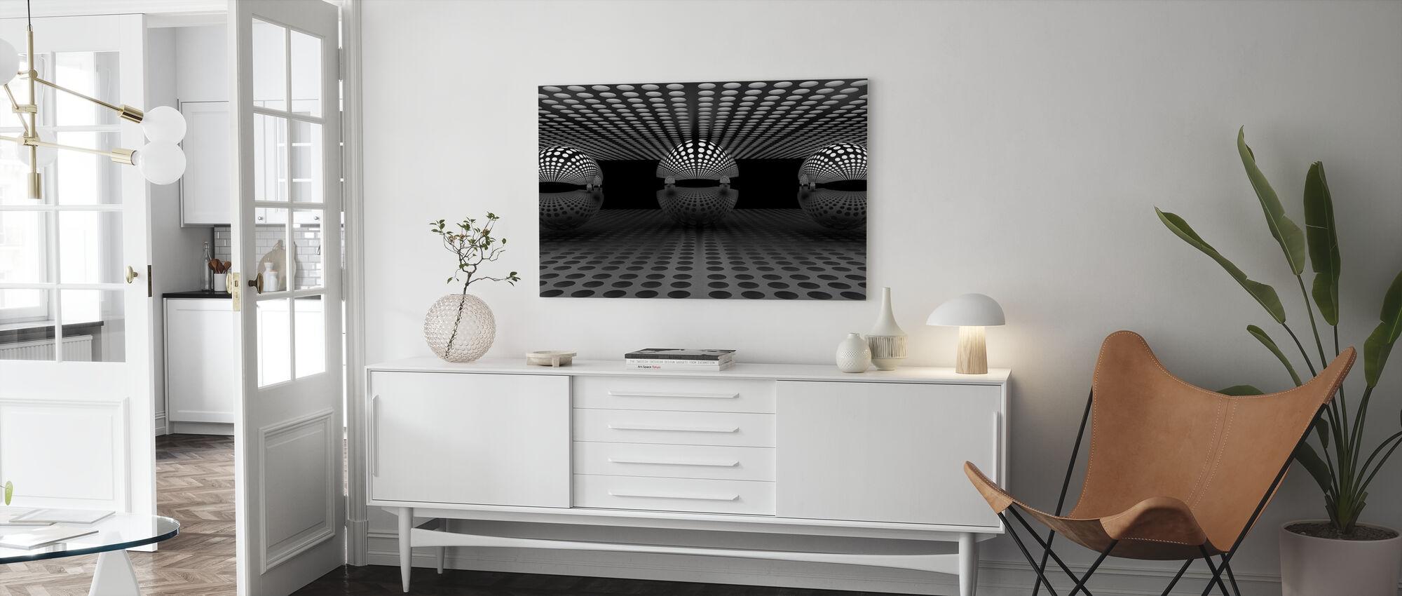 Pacman Familj - Canvastavla - Vardagsrum