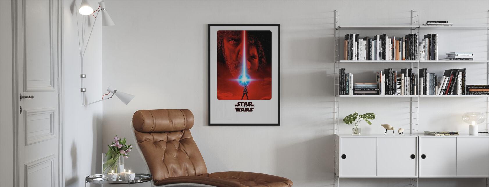 Tähtien sota - viimeinen jedi elokuva juliste - Kehystetty kuva - Olohuone