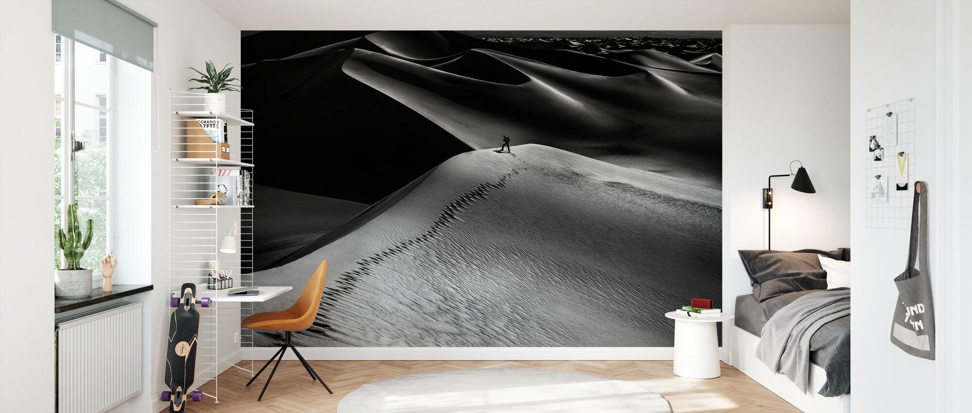 One Set of Footprints - Wallpaper - Kids Room