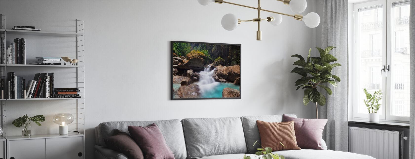 Canyon at Kawasan Falls I - Framed print - Living Room