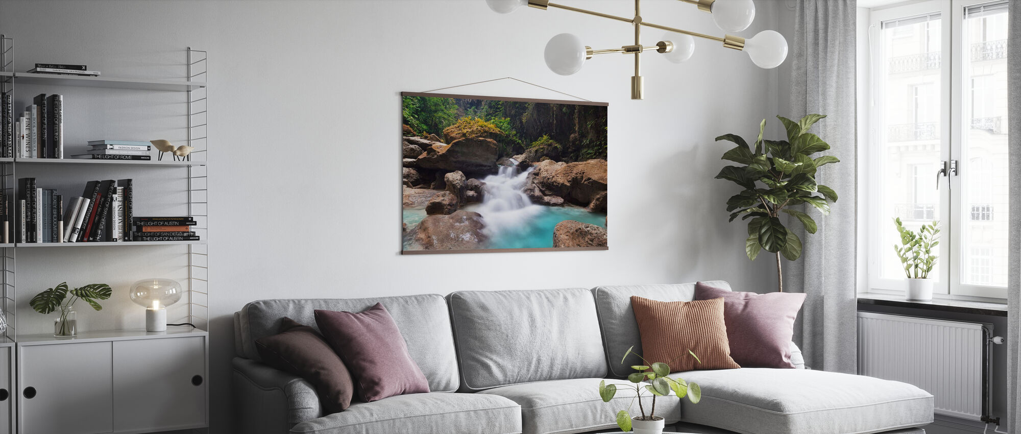 Canyon at Kawasan Falls I - Poster - Living Room