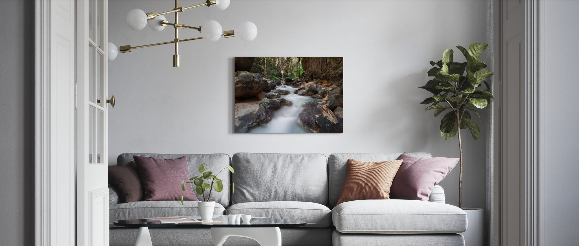 Canyon bij Kawasan Falls II - Canvas print - Woonkamer
