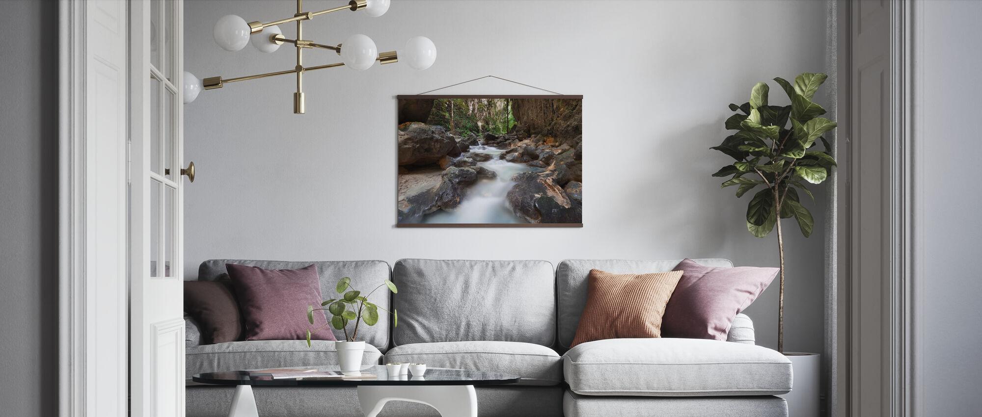 Canyon bij Kawasan Falls II - Poster - Woonkamer
