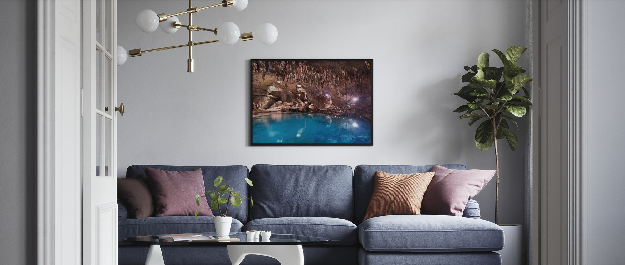 Hinagdanan Cave Pool - Framed print - Living Room