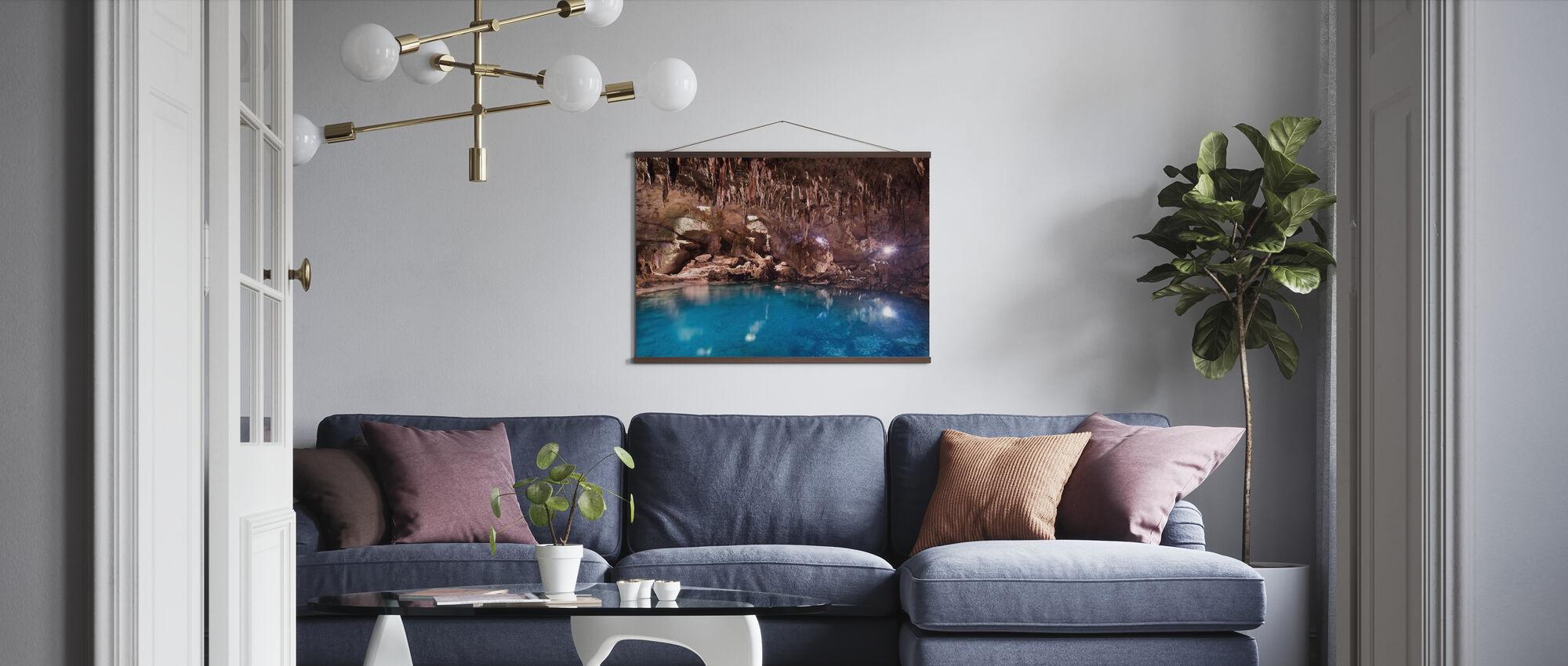 Hinagdanan Cave Pool - Poster - Wohnzimmer