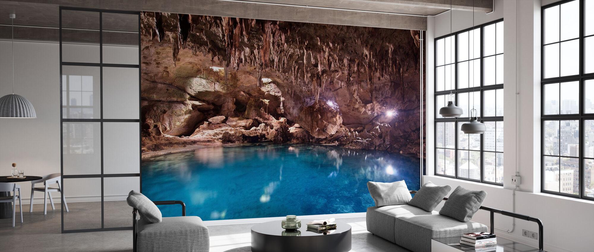 Hinagdanan Cave Pool - Wallpaper - Office
