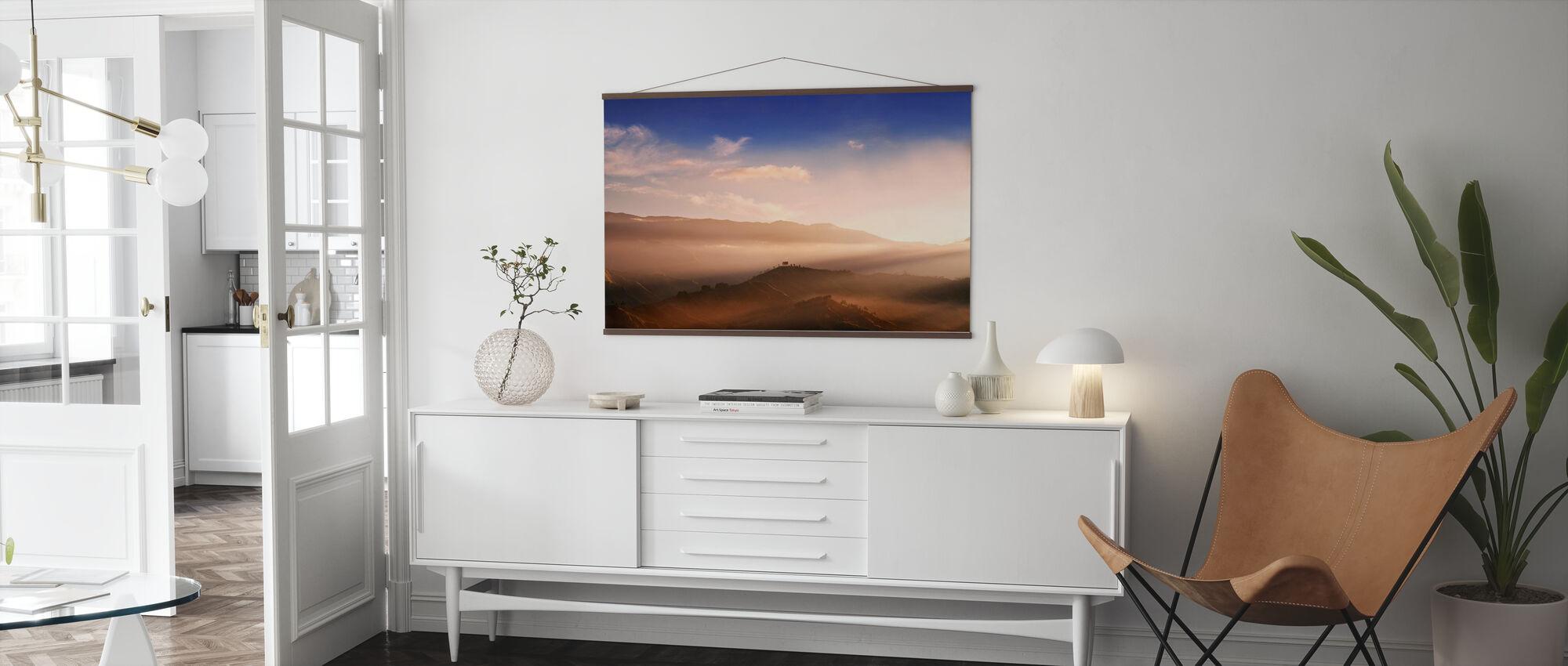 Sonnenaufgang auf Panimahawa Ridge II - Poster - Wohnzimmer
