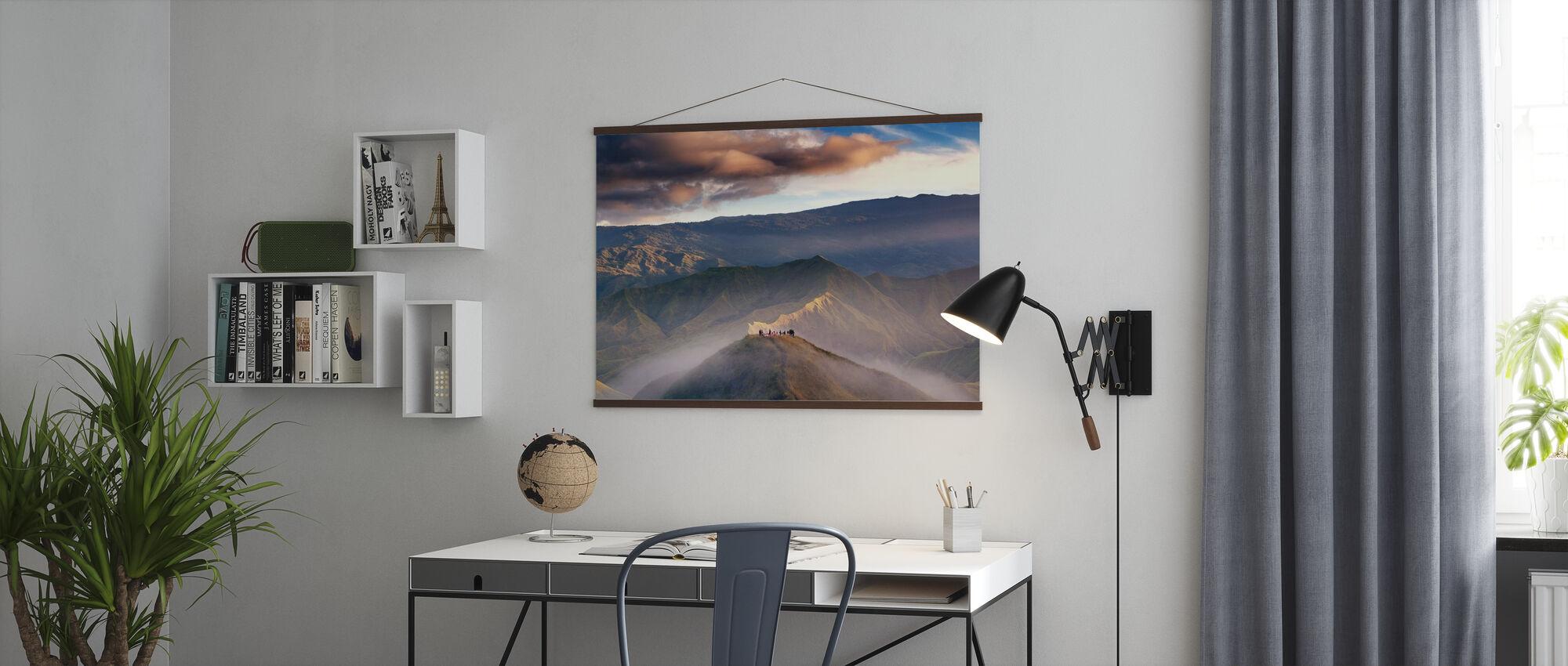 Sonnenaufgang beobachten im Panimahawa Ridge - Poster - Büro