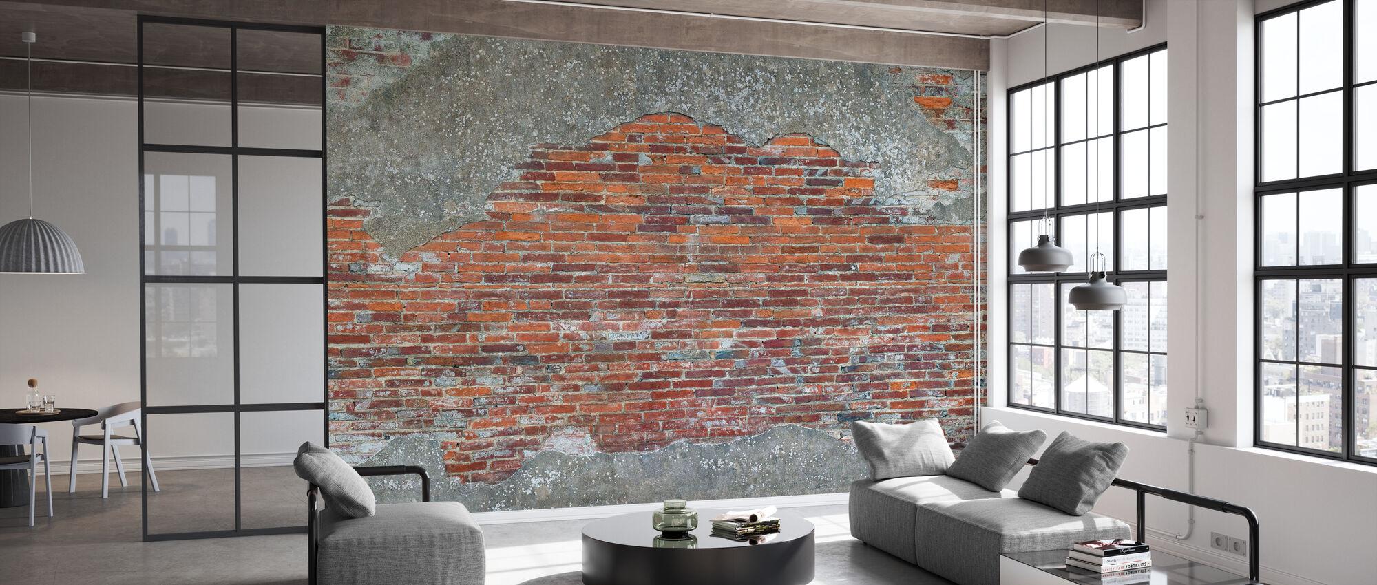 Oude Romeinse bakstenen muur - Behang - Kantoor