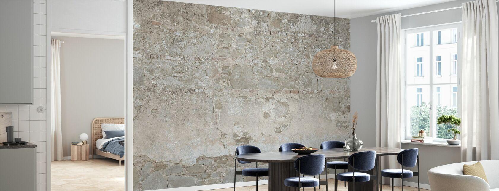 Bright Stone Wall - Wallpaper - Kitchen