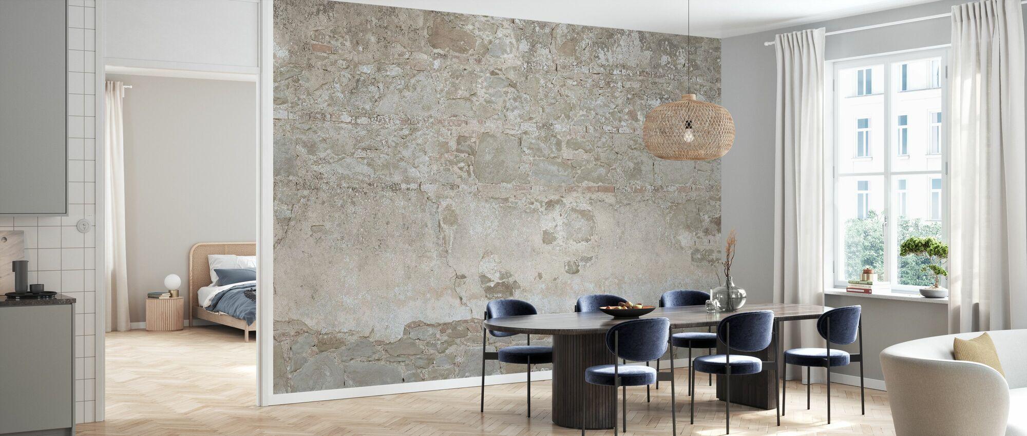 Helle Steinmauer - Tapete - Küchen