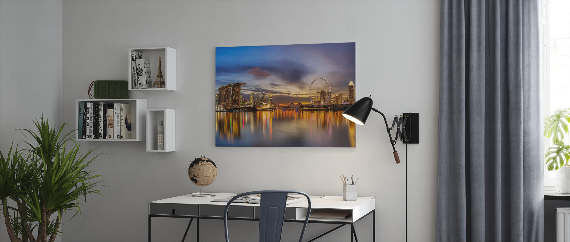 Sunset by the Bay - Canvas print - Office