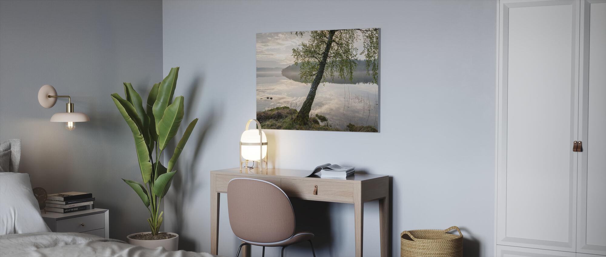 Piękne Jezioro Szwedzkie - Obraz na płótnie - Biuro