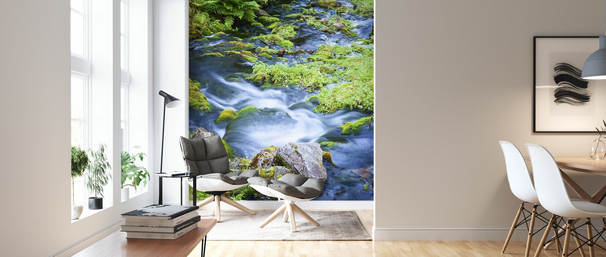 Finnish Brook - Wallpaper - Living Room