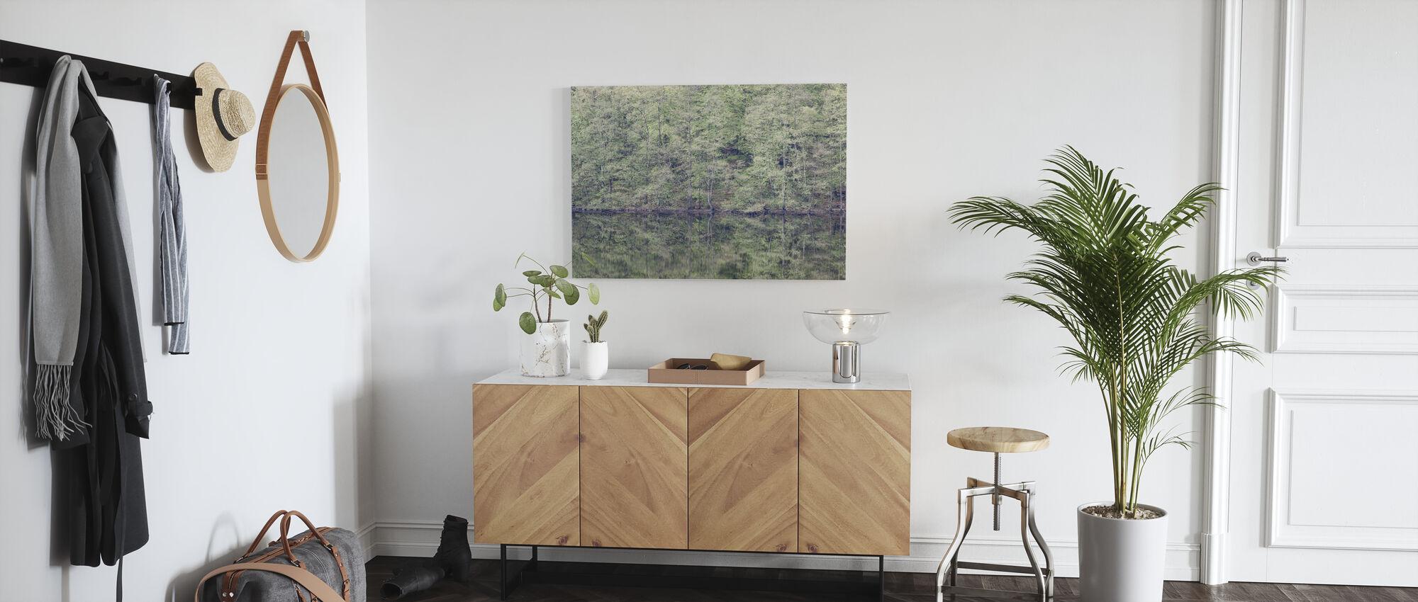 Mirroring - Canvas print - Hallway