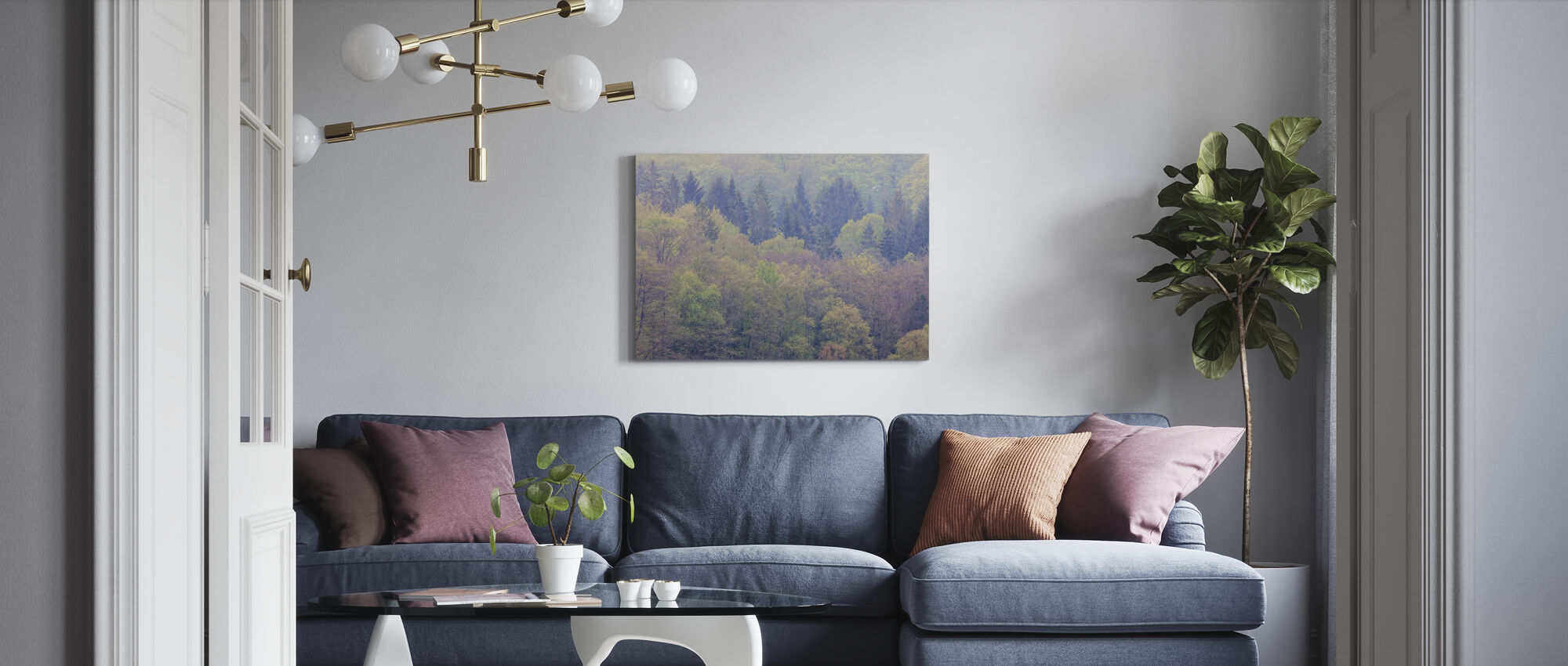Mixed Forest - Canvas print - Living Room