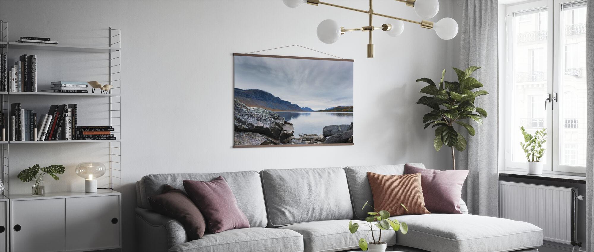 Kraftfull Langasjön - Poster - Vardagsrum