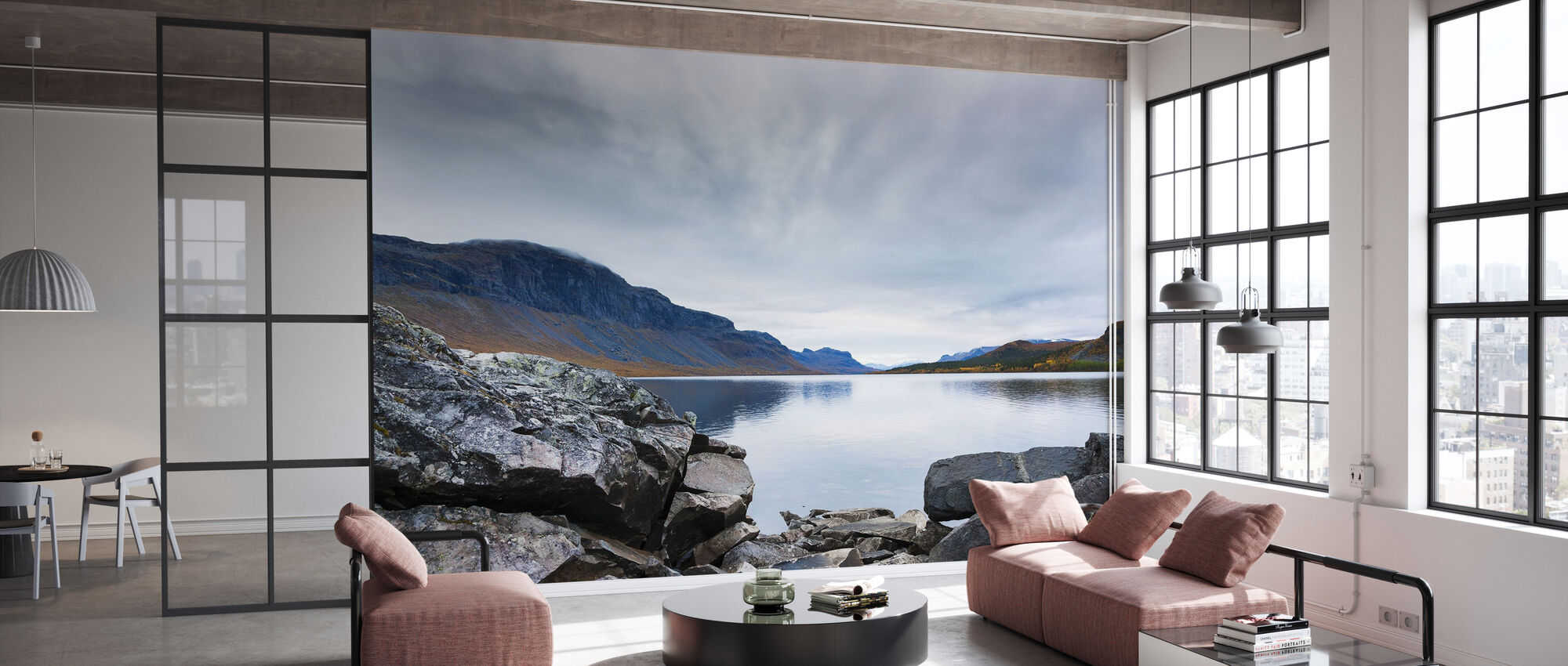 Powerful Lake Langas - Wallpaper - Office