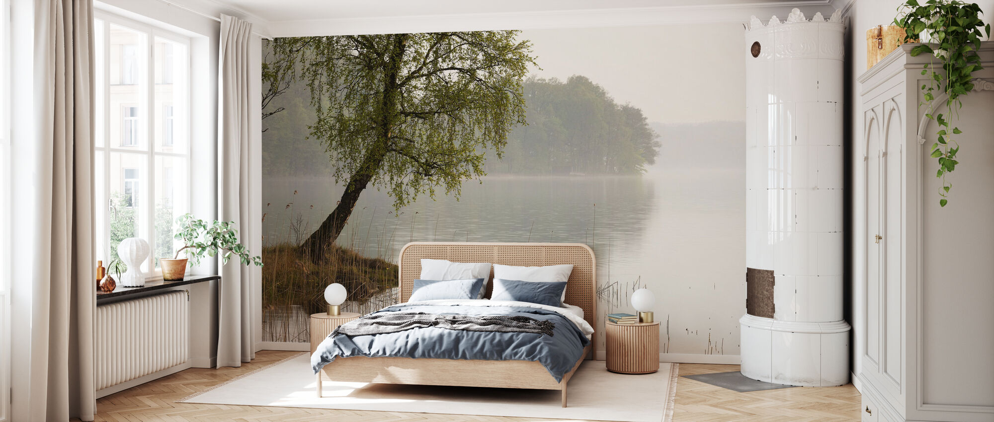 Tree at Swedish Lake - Wallpaper - Bedroom