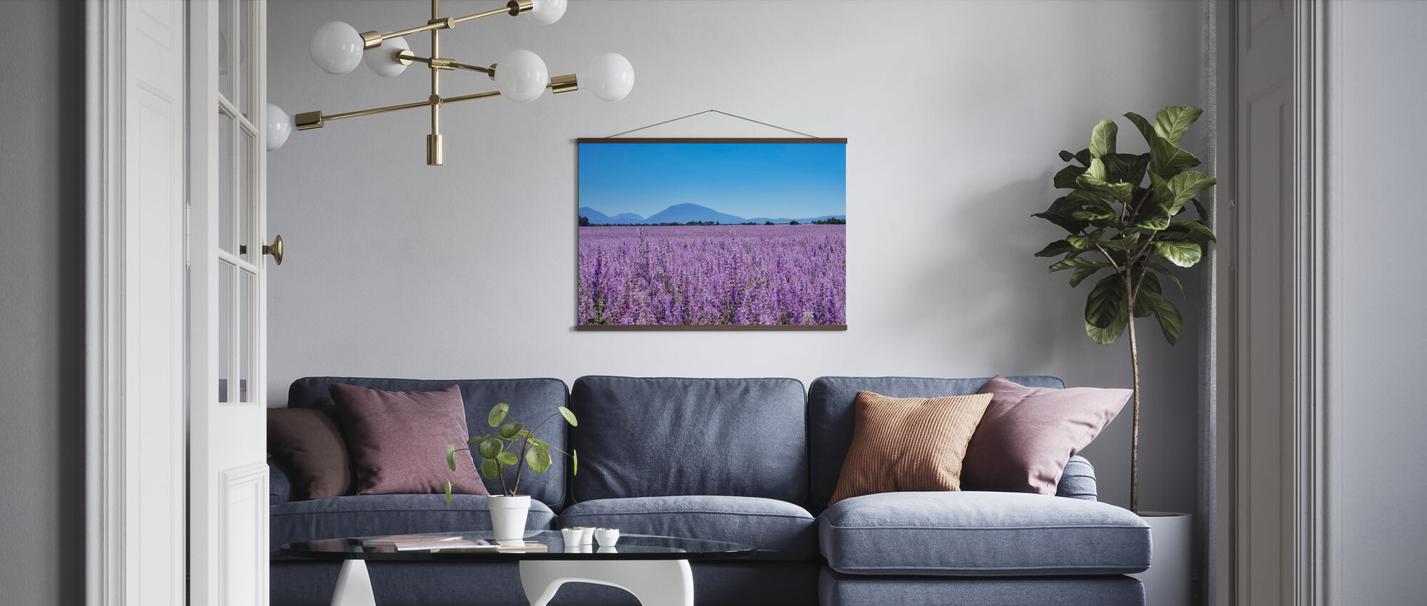 Clary Sage field - Poster - Living Room