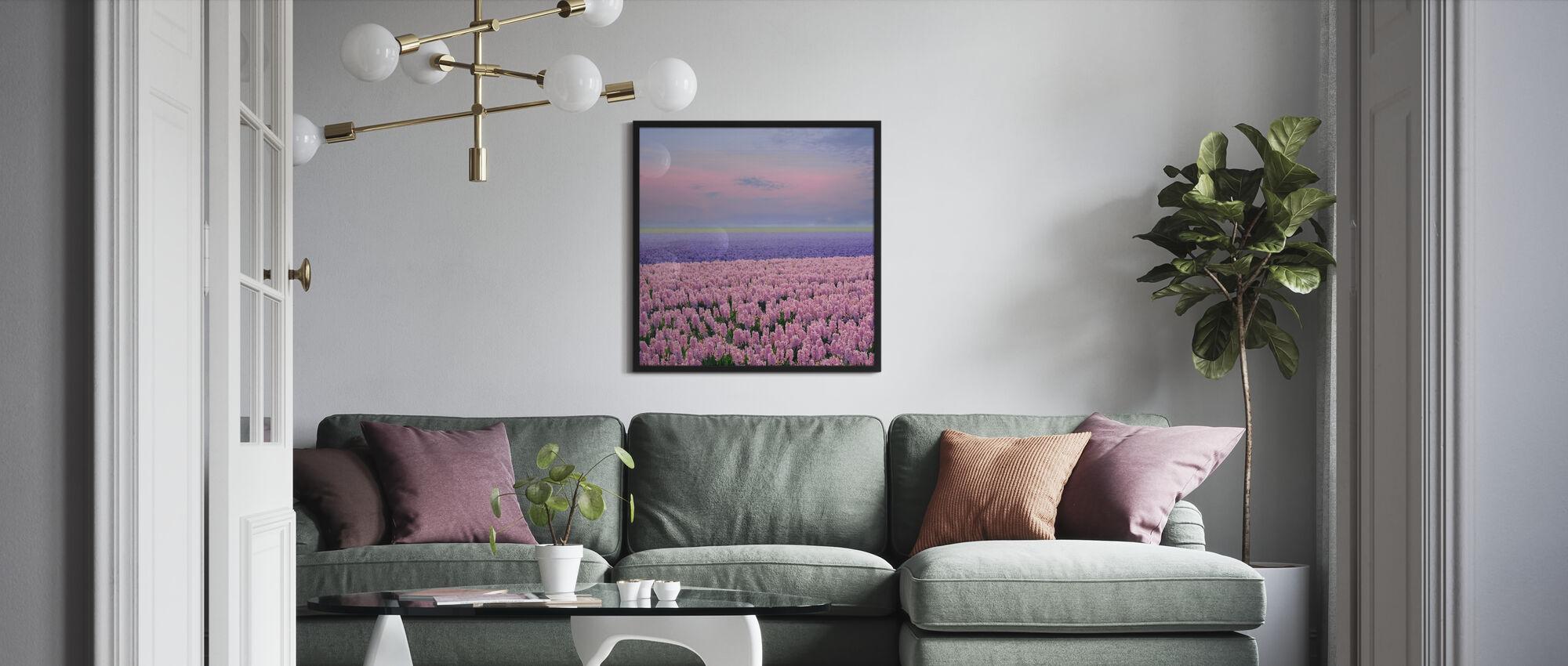 Pink Hyacinth - Poster - Living Room