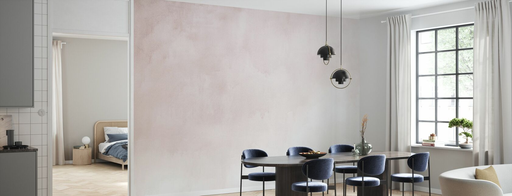 Watercolour Pale Pink - Wallpaper - Kitchen