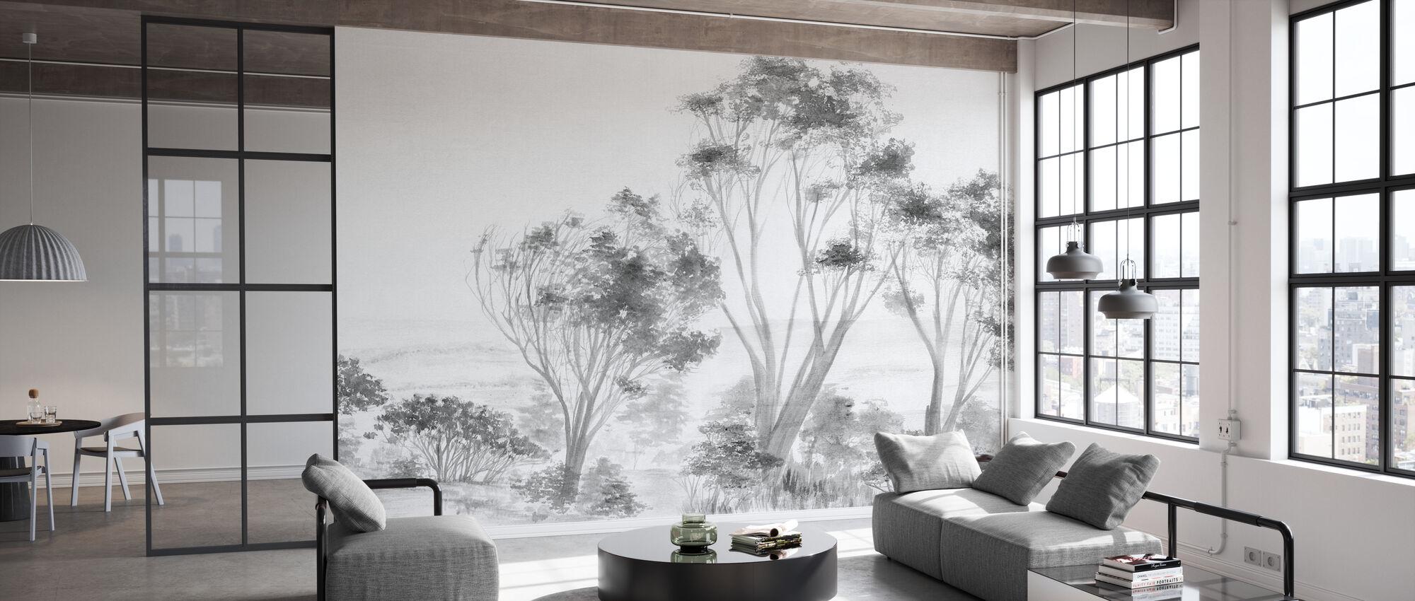 Trees White - Wallpaper - Office