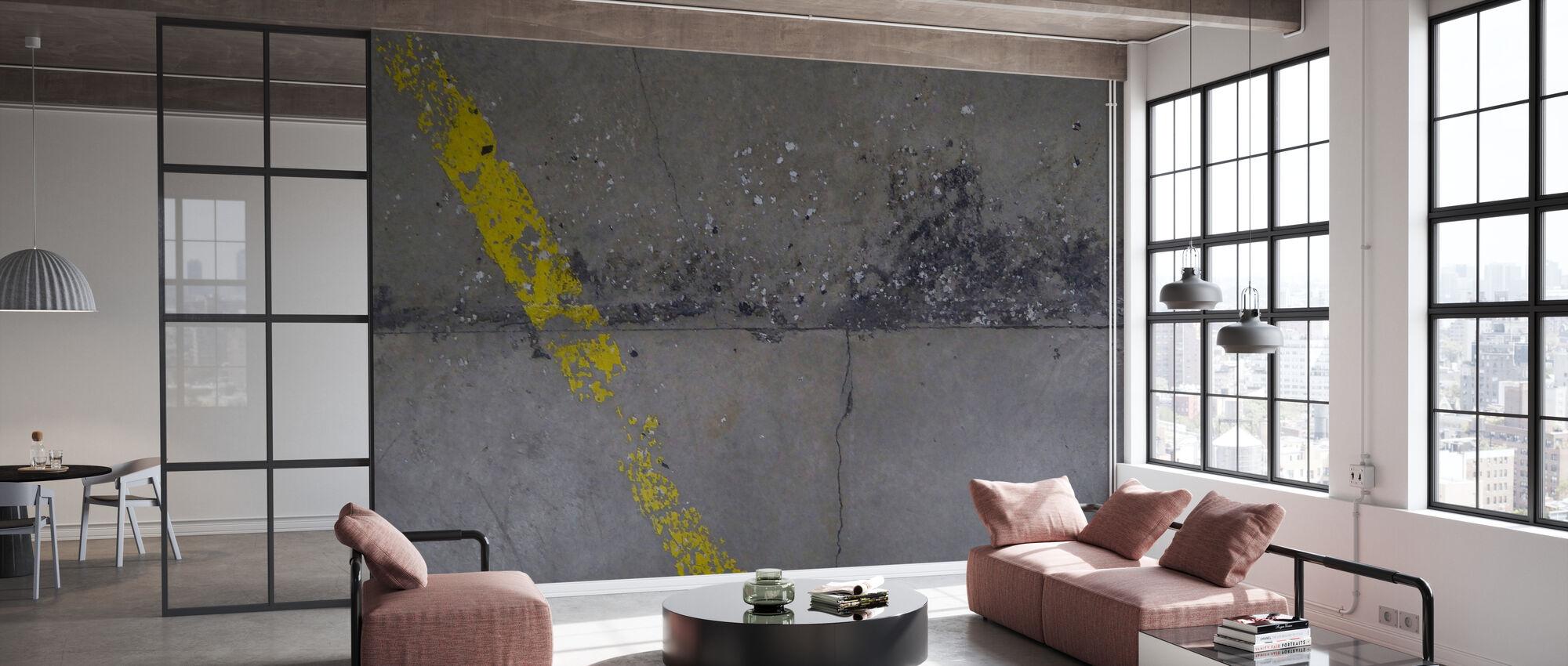 Plancher de béton sur le mur 1 - Papier peint - Bureau