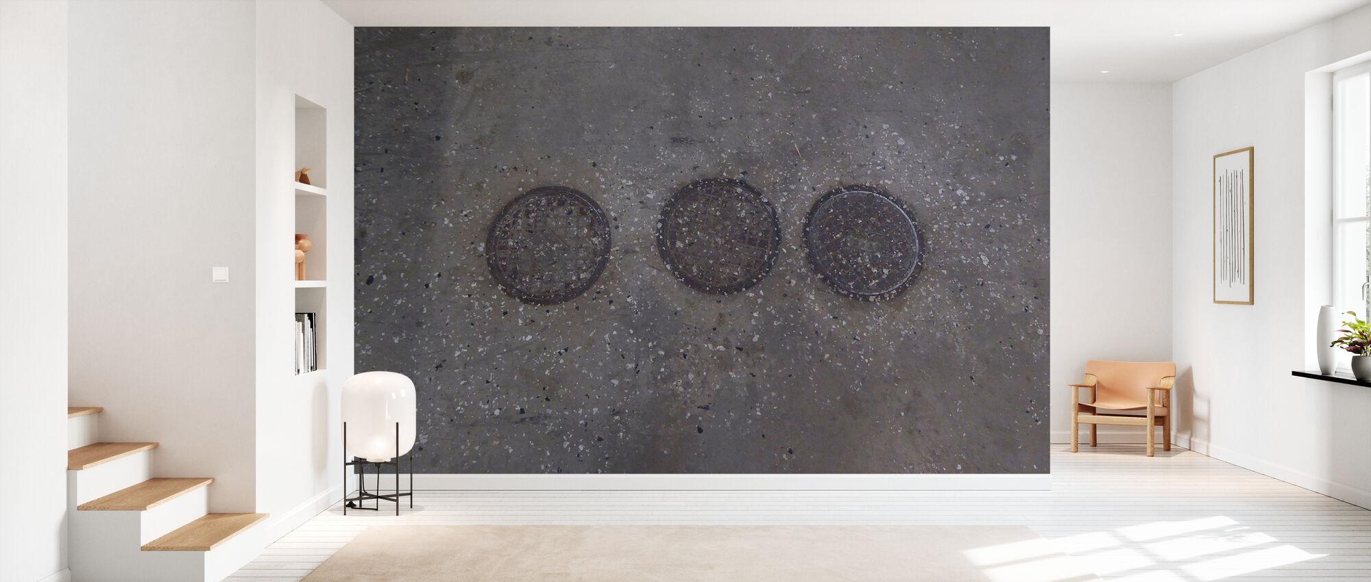 Concrete Floor on Wall 6 - Wallpaper - Hallway