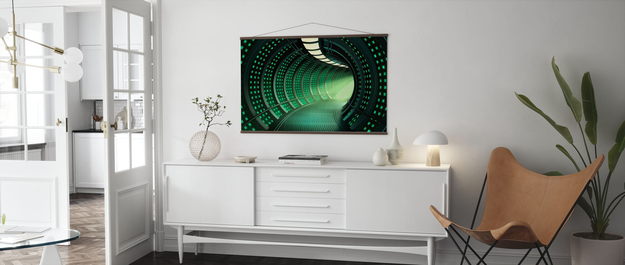 Escape to Space Tunnel - Poster - Living Room