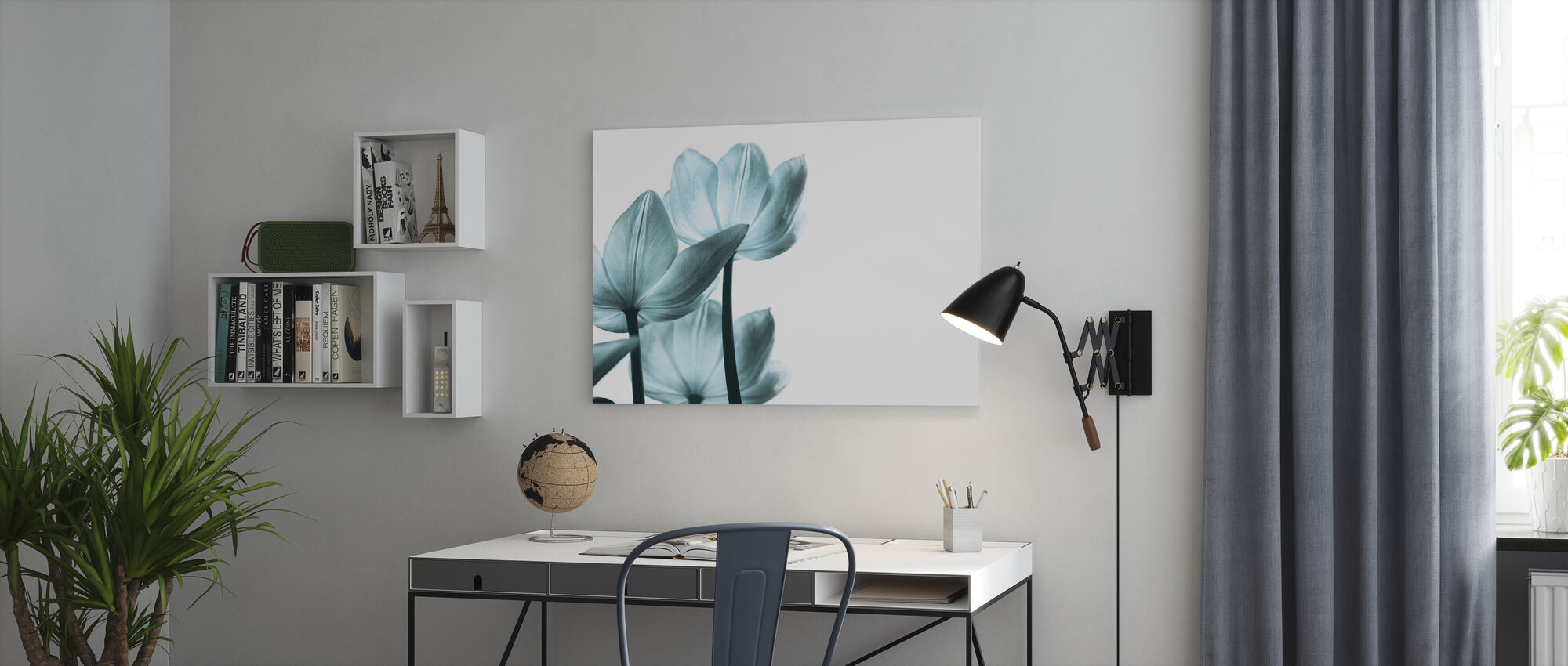 Translucent Tulips - Canvas print - Office