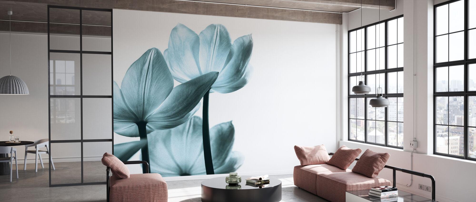 Transluzente Tulpen - Tapete - Büro