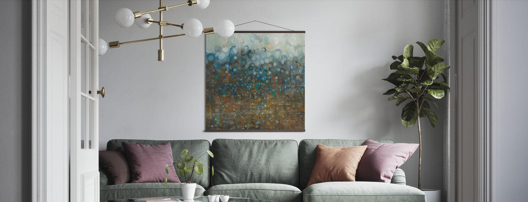 Blå og Bronse prikker - Plakat - Stue
