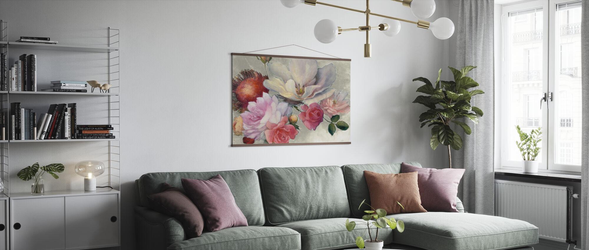 flamske Fantasy på hvid - Plakat - Stue