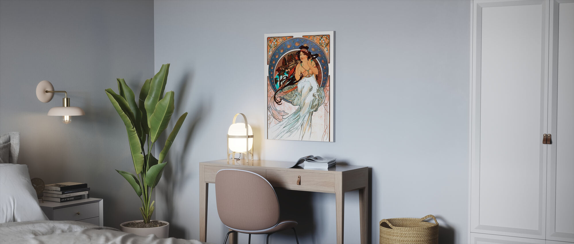 Alphonse Mucha - Art Noveau - Canvas print - Office