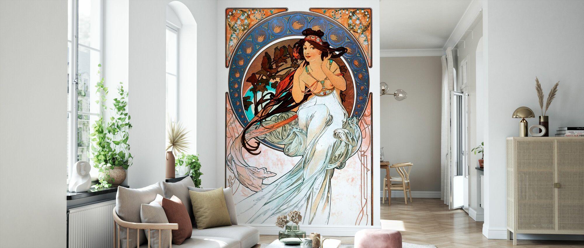 Alphonse Mucha - Art Noveau - Wallpaper - Living Room