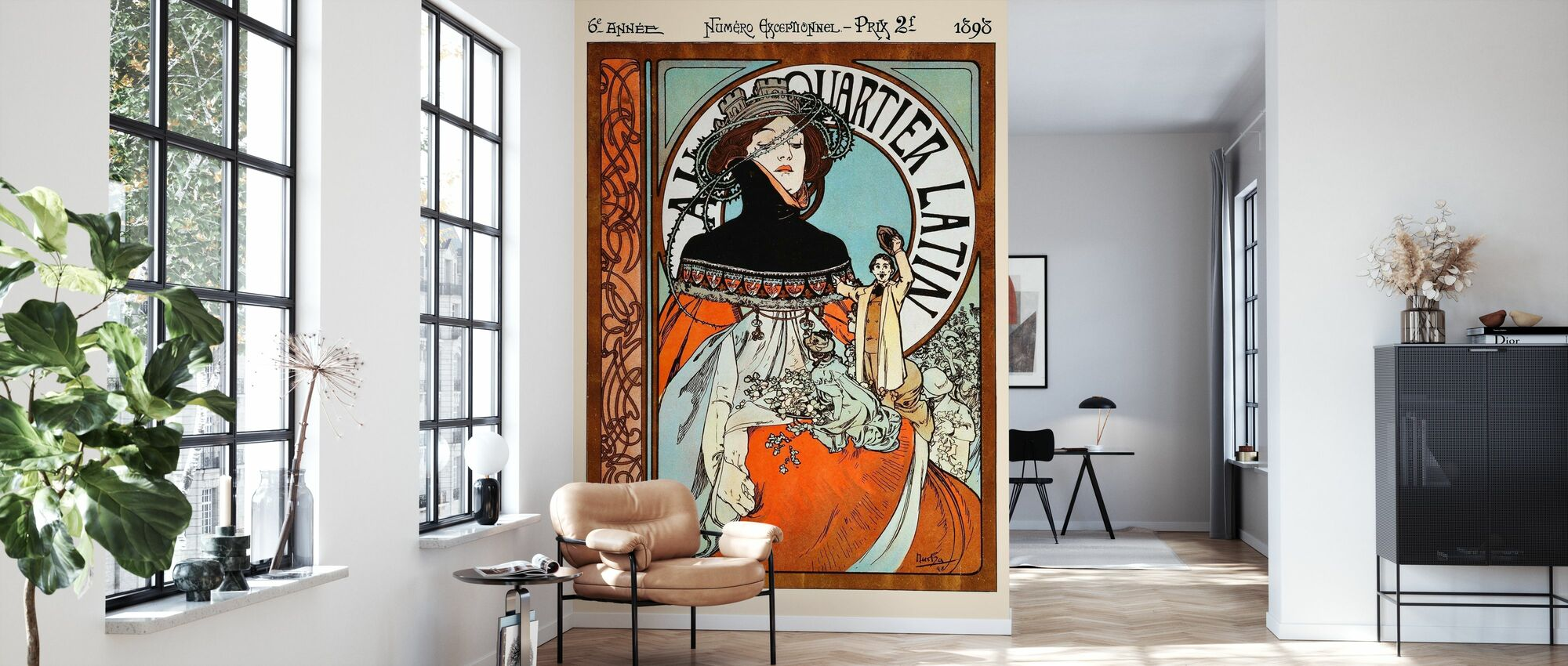 Alphonse Mucha - Au Quarter Latin - Wallpaper - Living Room