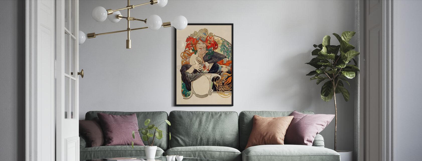 Alphonse Mucha - Bieres de La Meuse Gouache - Poster - Living Room