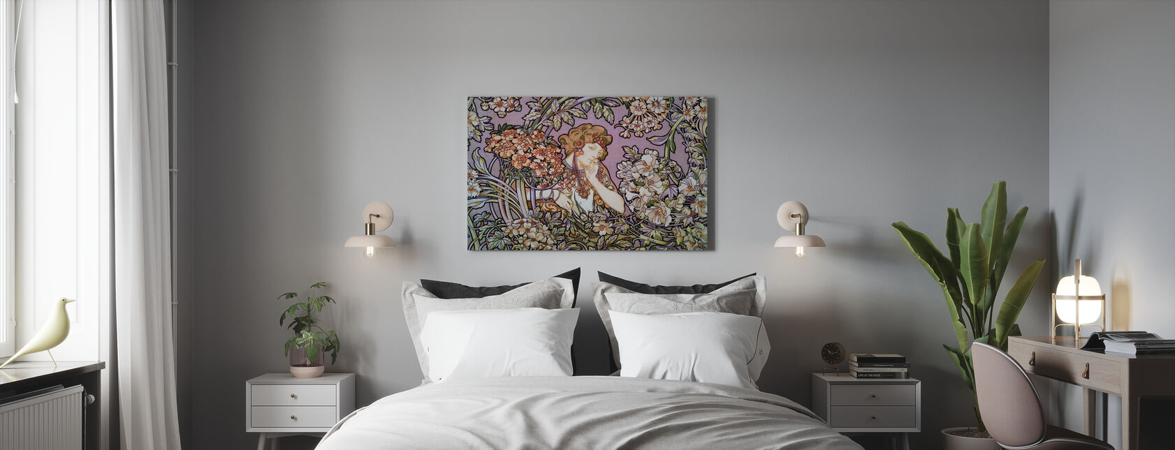 Alphonse Mucha - Colour Litho Lavendel - Canvas print - Bedroom