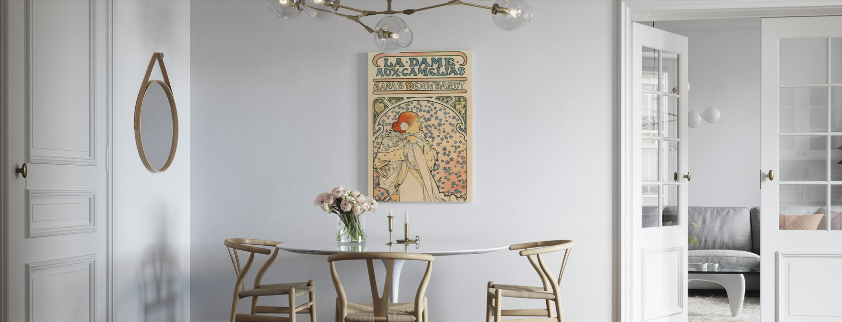 Alphonse Mucha - The Lady of the Camellias - Canvas print - Kitchen