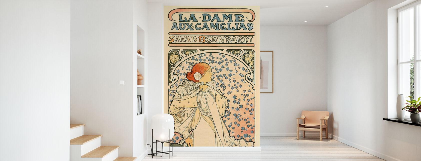 Alphonse Mucha - La Dame des Camélias - Papier peint - Entrée