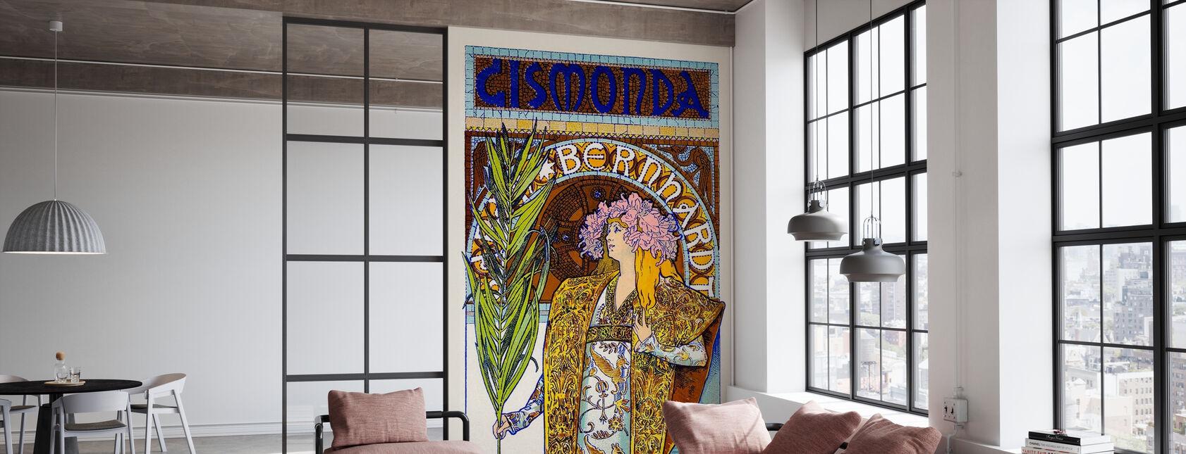 Alphonse Mucha - Theatre Renaissance - Wallpaper - Office