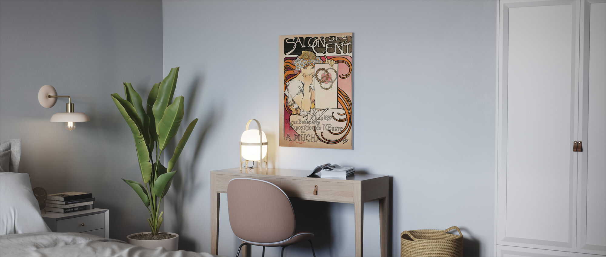 Alphonse Mucha -Salon des Cent 1897 - Canvas print - Office
